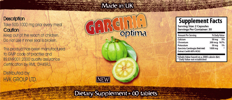 garcinia optima label Garcinia Óptima